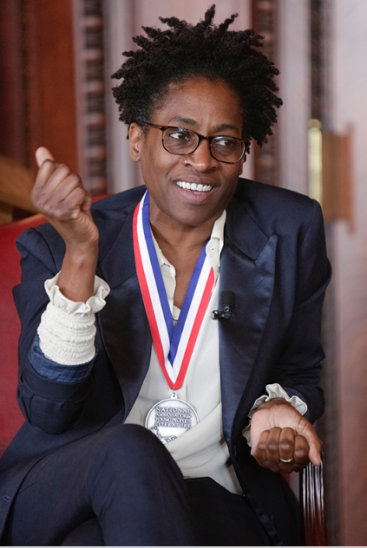 Jacqueline Woodson at her inauguration. Photo Credit: Library of Congress http://www.read.gov/cfb/ambassador/index.html